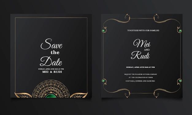 Luxe bewaar de kaartenset voor de datum bruiloft