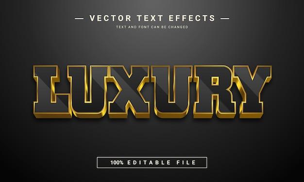 Luxe bewerkbaar lettertype-effect