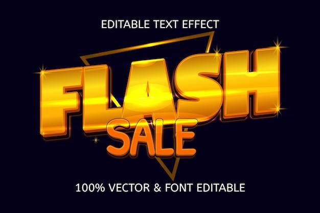 Luxe bewerkbaar teksteffect in flash-verkoopstijl