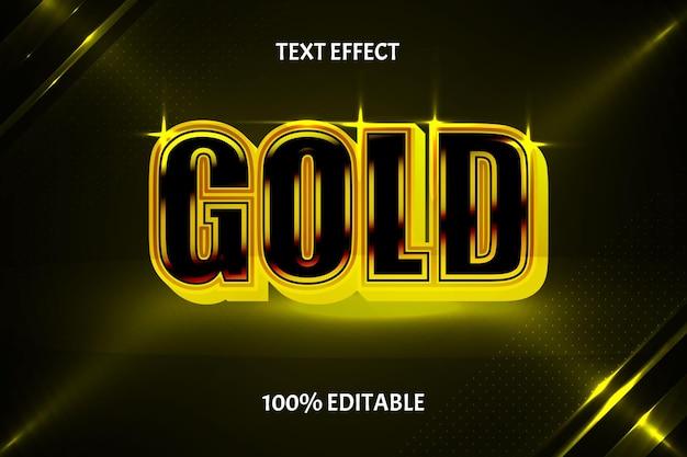 Luxe bewerkbaar teksteffect in gouden stijl
