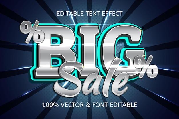 Luxe bewerkbaar teksteffect in grote verkoopstijl