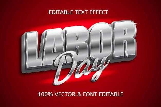 Luxe bewerkbaar teksteffect in labour day-stijl