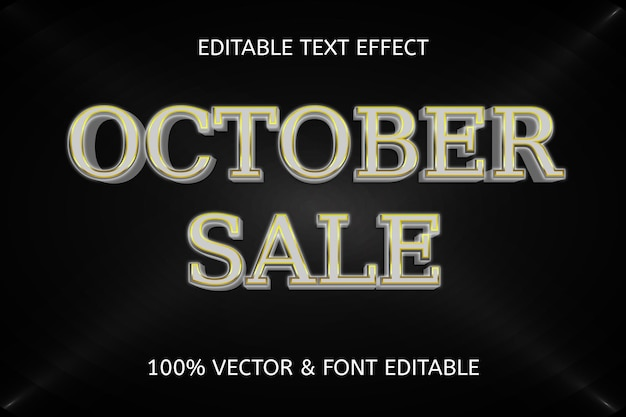 Luxe bewerkbaar teksteffect in oktober-verkoopstijl