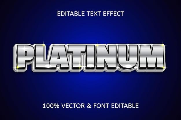 Luxe bewerkbaar teksteffect in platinastijl
