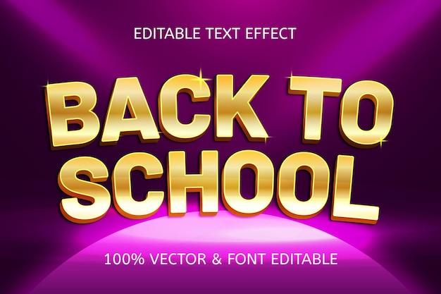Luxe bewerkbaar teksteffect in terug naar schoolstijl