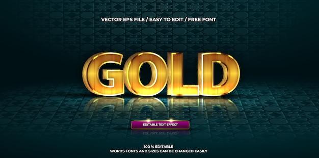 Luxe bewerkbare teksteffect gouden 3d-tekststijl