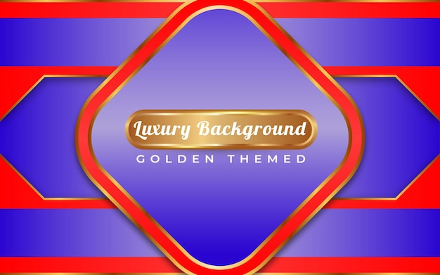 Luxe blauwe achtergrond gouden stijl