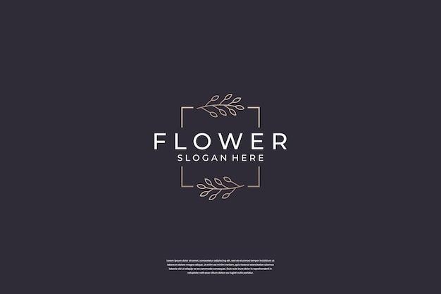 Luxe bloem logo ontwerp inspiratie