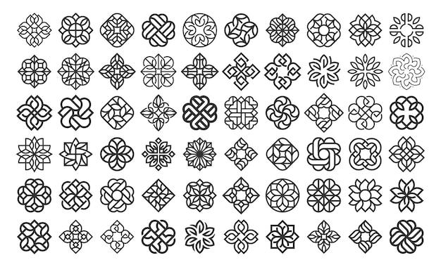 Luxe bloem logo ontwerpsjabloon