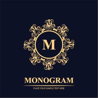 Luxe bruiloft monogram logo