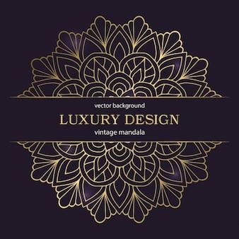 Luxe bruiloft ontwerp met goud mandala