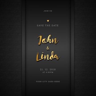 Luxe bruiloft uitnodiging kaart ontwerp