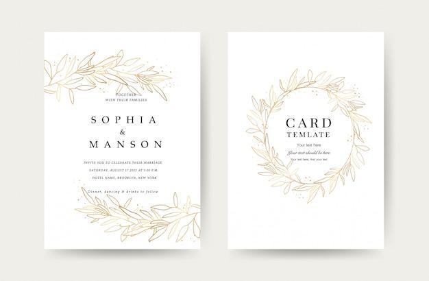 Luxe bruiloft uitnodiging kaarten sjabloon
