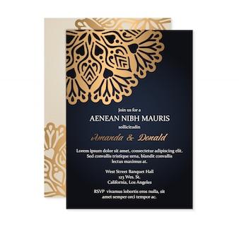 Luxe bruiloft uitnodiging
