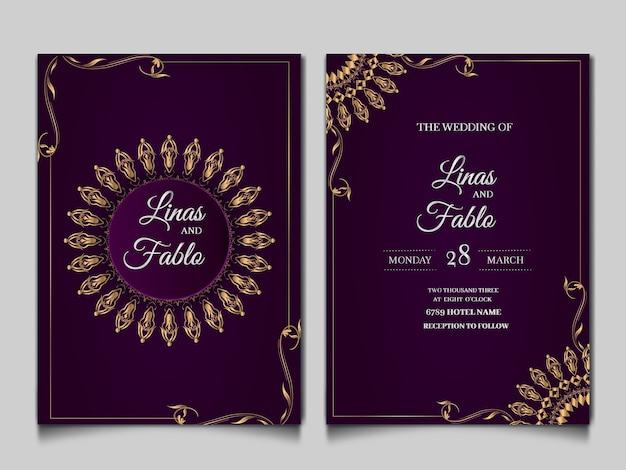 Luxe bruiloft uitnodigingskaarten stijl monoline