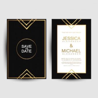 Luxe bruiloft uitnodigingskaarten