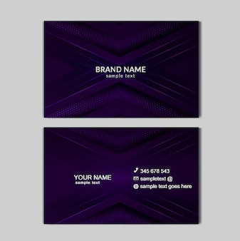 Luxe bussines kaartsjabloon