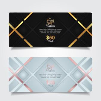 Luxe cadeaubon met gouden element decoratie