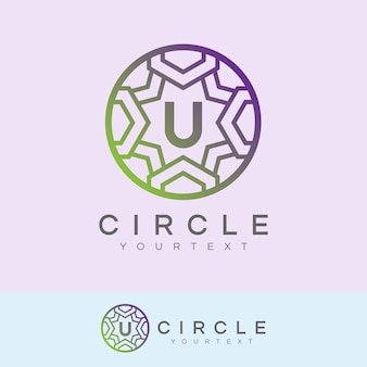 Luxe cirkel eerste letter u logo ontwerp