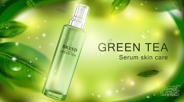 Luxe cosmetische fles pakket huidverzorgingscrème. schoonheid cosmetische poster.