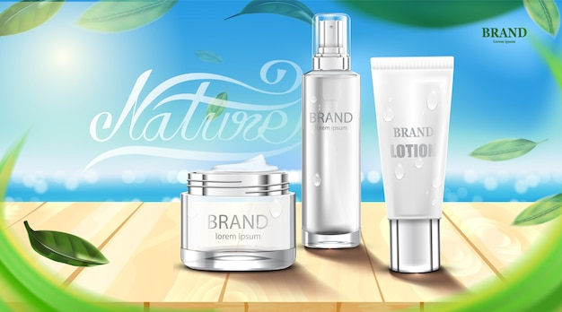 Luxe cosmetische fles pakket huidverzorgingscrème