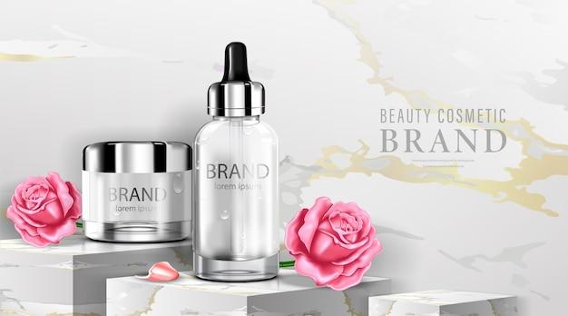 Luxe cosmetische flesverpakking huidverzorgingscrème