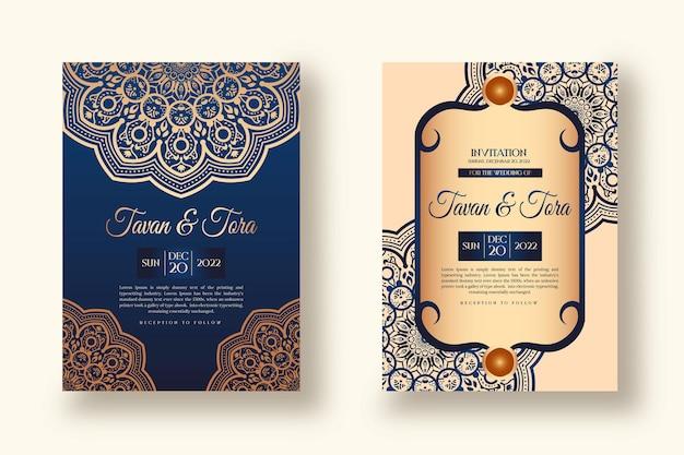 Luxe creatieve huwelijksuitnodiging kaartontwerp