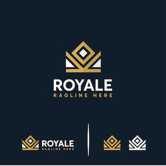 Luxe crown king, royal crown-logo