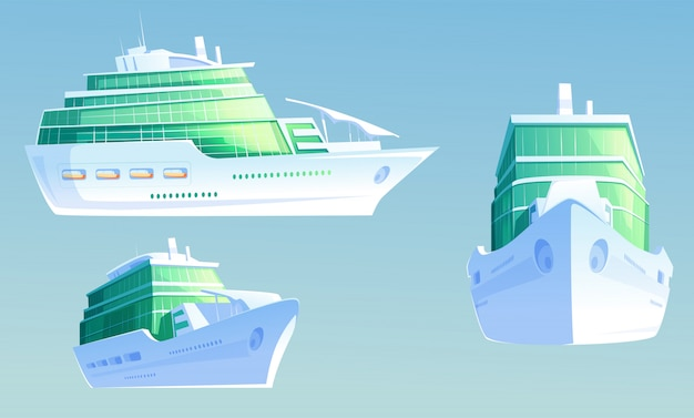 Luxe cruiseschip voor zomervakantie en reizen
