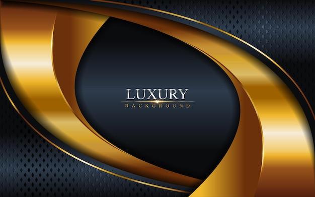 Luxe dark navy combinatie met gouden lijnen achtergrond. grafisch element.