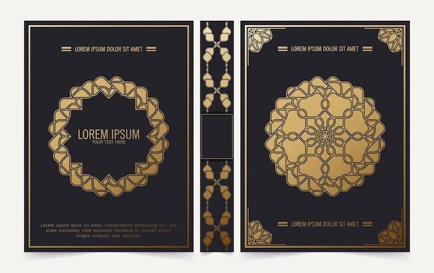 Luxe decoratief mandala boekomslagontwerp