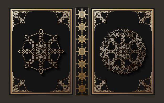 Luxe decoratief mandala-boekomslagontwerp