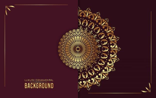 Luxe decoratieve mandala achtergrond, vectorillustratie.