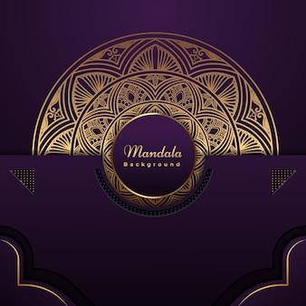 Luxe decoratieve mandala-achtergrond