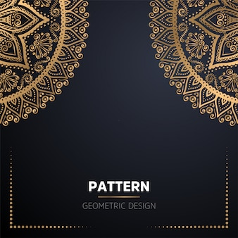 Luxe decoratieve mandala ontwerp achtergrond in gouden kleur
