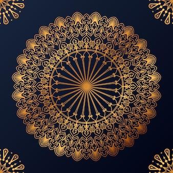 Luxe decoratieve mandala ontwerp achtergrond