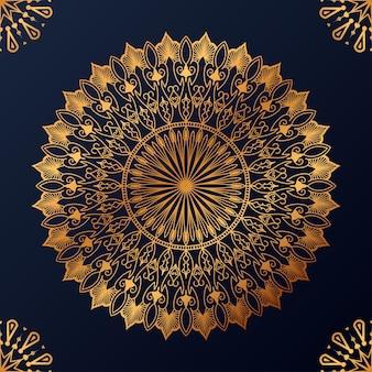 Luxe decoratieve mandala ontwerp achtergrond Gratis Vector