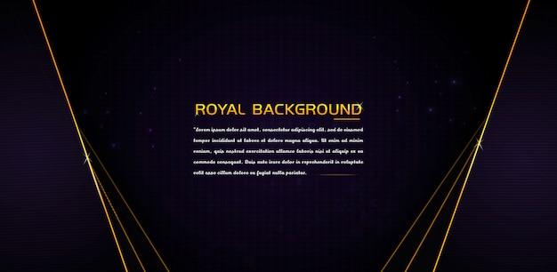 Luxe design op donkere achtergrond met glanzende gouden randen banner ontwerp