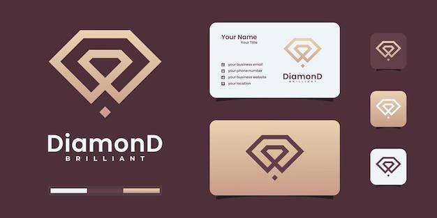 Luxe diamant lijntekeningen logo ontwerpsjablonen. briljant logo kan worden gebruikt voor uw branding.