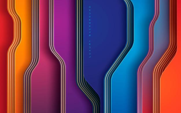Luxe dimensie achtergrond kleurrijke lagen decoratie