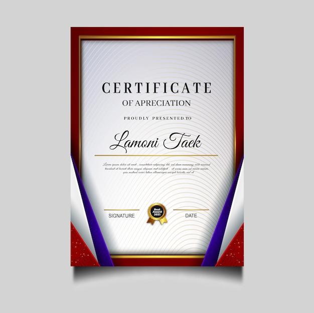 Luxe diploma certificaatsjabloon archivering