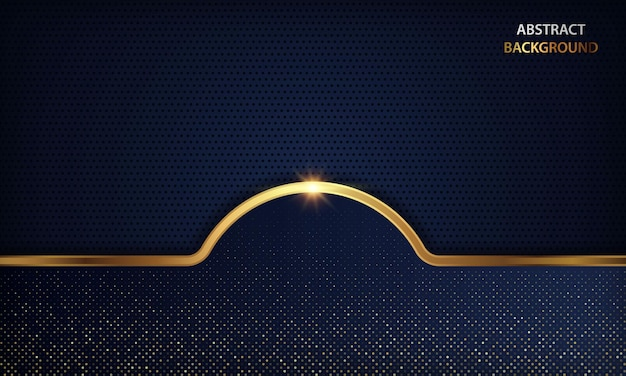 Luxe donkerblauw met gouden lijnen en sprankelend effect