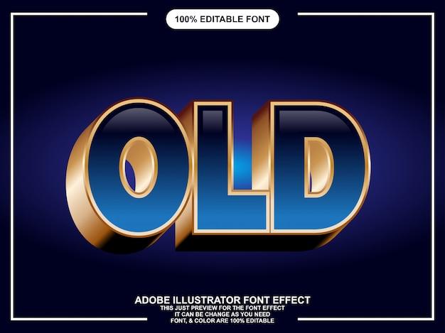 Luxe donkerblauw met gouden omtrek lettertype-effect