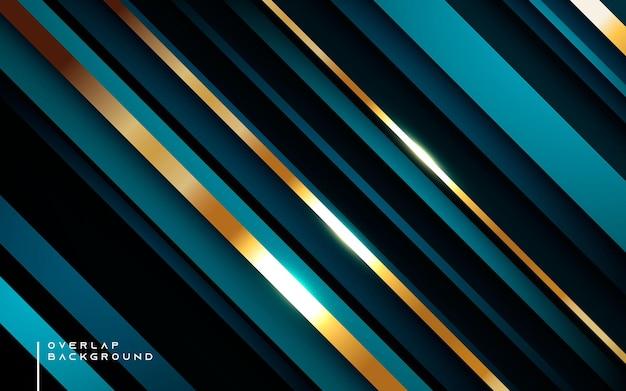 Luxe donkerblauwe achtergrond diagonale vormdimensie