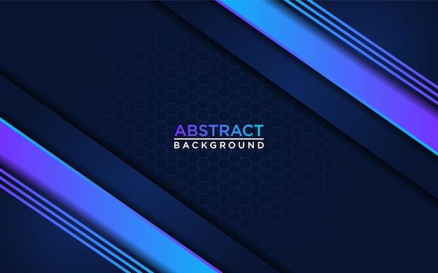 Luxe donkerblauwe achtergrond gecombineerd met blauwe kleurovergangen