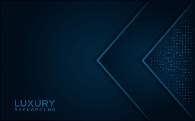 Luxe donkerblauwe achtergrond met een combinatie van blauwe stippen