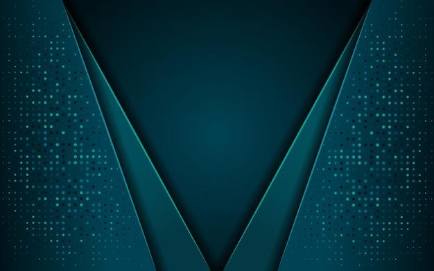 Luxe donkerblauwe achtergrond met een combinatie van lijnmetaalzilver in 3d-stijl