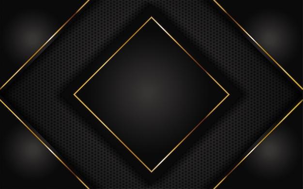 Luxe donkere achtergrond met gouden abstract