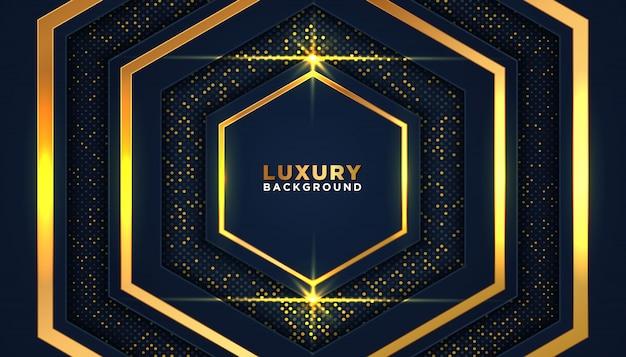 Luxe donkere achtergrond met gouden glitter