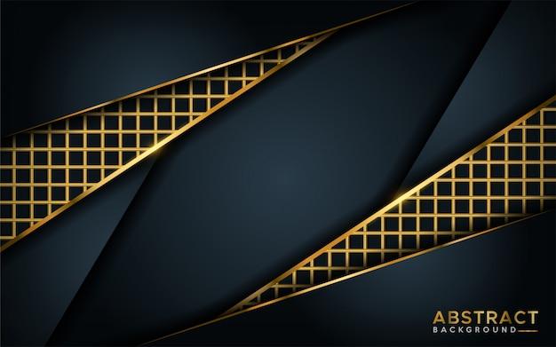 Luxe donkere achtergrond met gouden lijnelement.
